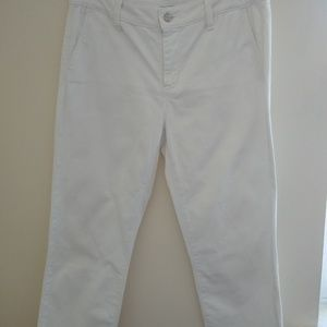 NYDJ White Crop Pants
